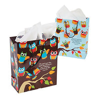 Owls on a Tree Gift Favour Bags with Bible Scripture Owl Bag Pack of 2 Free Post