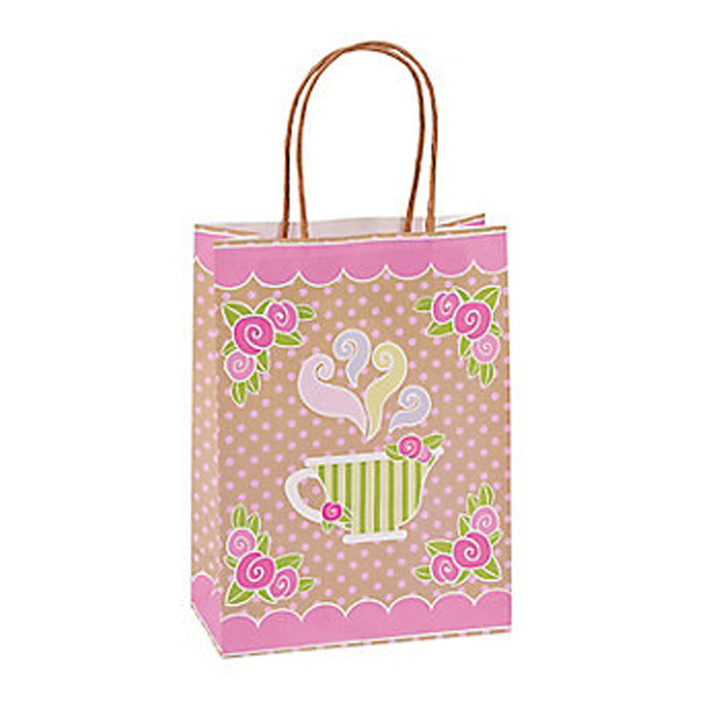 TEA PARTY - Gift Bags with Rope Handles - 22.5cm X 16.5cm X 8cm - Free Delivery