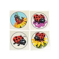 LADYBUG PARTY FAVOUR ~   Ladybird Tattoos - Temporary Tattoo - pack of 36 - Free Delivery