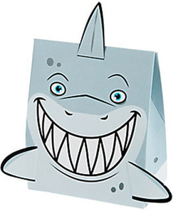 SHARK PARTY Small Treat Favour Box & Fins Gift Party Boxes Pack 6 Free Postage