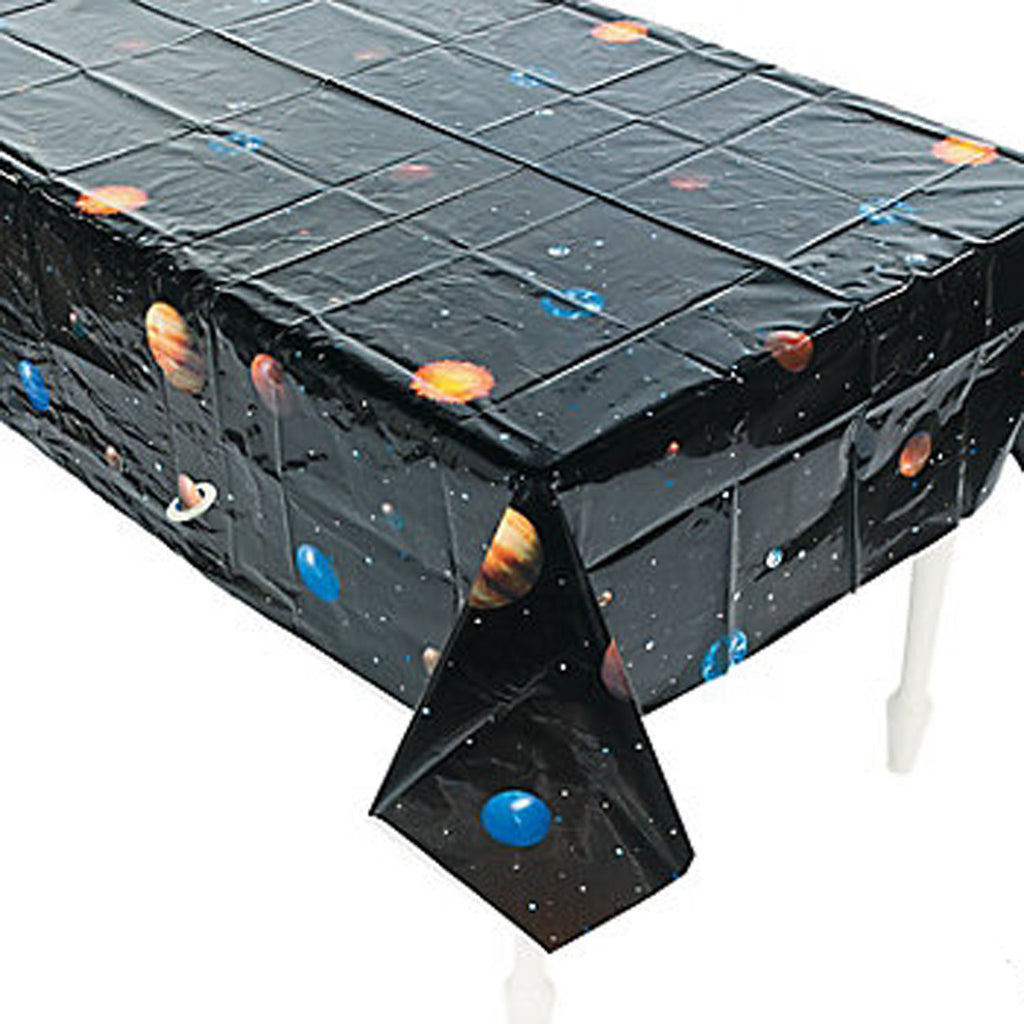 OUTER SPACE PARTY - Space - Solar System Tablecloth / Tablecover Plastic Free Delivery