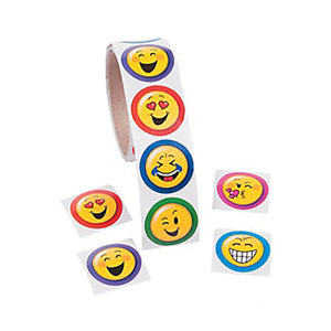 EMOJI PARTY Stickers Smiley Face  Emoticon Faces Favours Pack of 50 Free Postage