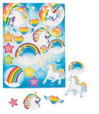 UNICORN RAINBOW PARTY -  Sticker sheets - pack of 3