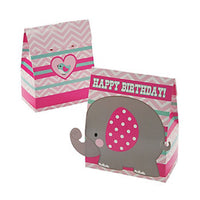 Pink Elephant Treat Boxes - Party by Post