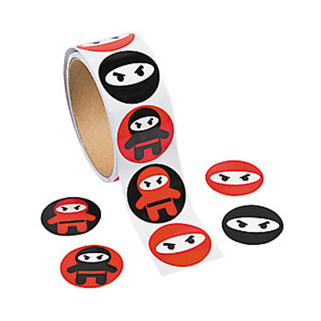 NINJA PARTY - Ninja Stickers -pack of 50 - Free delivery