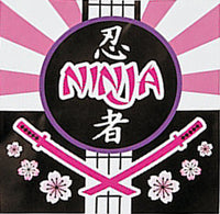 PINK NINJA PARTY Samurai Paper Beverage Napkins Serviettes Pack of 16 Free Post