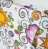 Swirls and Curls Table Cover Plastic Tablecloth 137cm x 274cm Free Postage