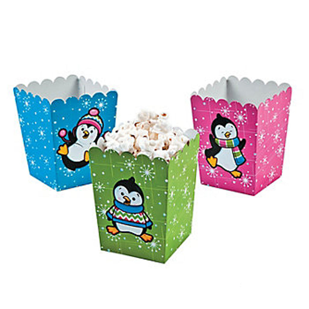 Penguin Mini Popcorn Boxes - Party by Post