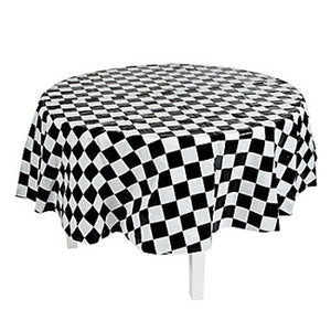 Round Chequered Flag tablecover