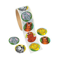 Jungle Zoo Animal Stickers pack of 50