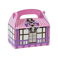 PINK NINJA PARTY Samurai Warrior Treat Box Gift Boxes Pack of 6 Free Postage