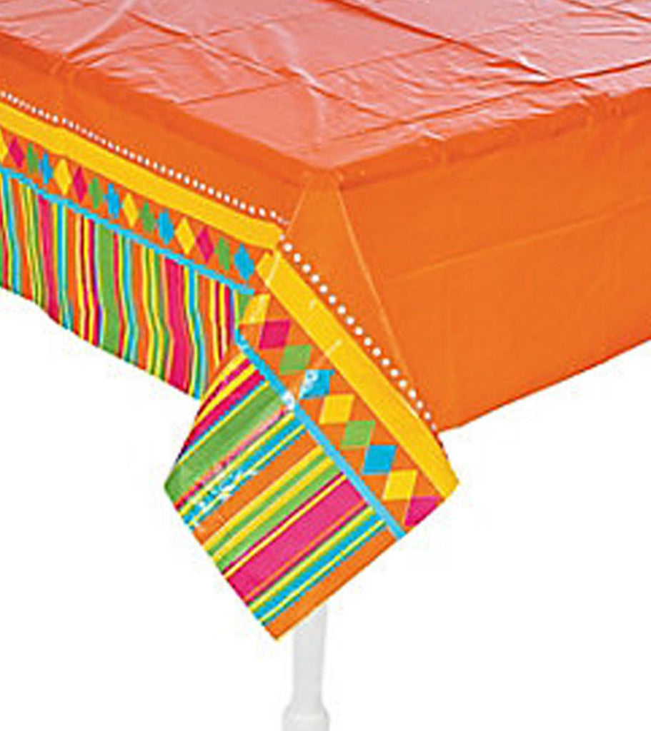 Mexican Fiesta Party Red Fiesta Tablecover Plastic Tablecloth