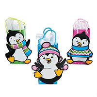 PENGUIN PARTY - Gift Bags with Rope Handles set of 3 - Free Delivery