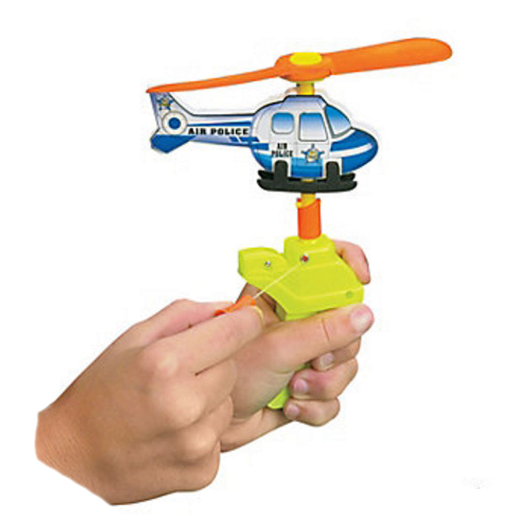 POLICE PARTY Foam Toy Helicopter Power Launcher Gift Favour Pack of One Free Post