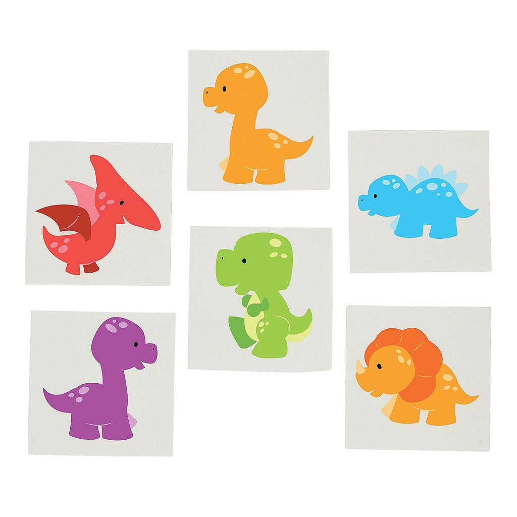 DINOSAUR PARTY FAVOUR ~  Little Dino Tattoos - Temporary Tattoo - pack of 36 - Free Delivery