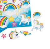 UNICORN RAINBOW PARTY Sticker Unicorns Stickers Pack of 12 Sheets Free Postage