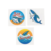 SHARK PARTY FAVOUR ~   Shark - Temporary Tattoo - pack of 36 - Free Delivery