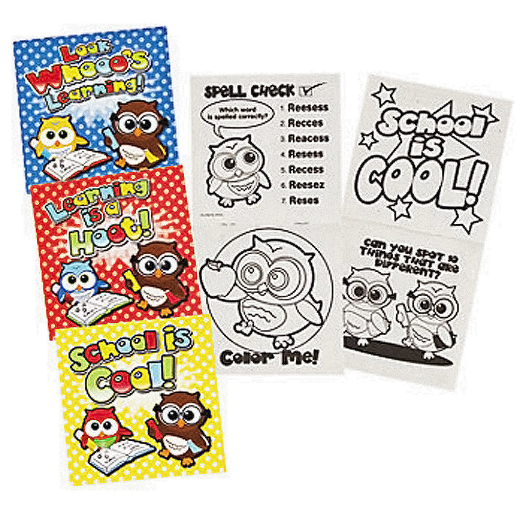 YOURE A HOOT OWL PARTY Activity Colouring Books Favours Pack of 6 Free Postage