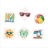 BEACH PARTY Beach Fun Tattoos Temporary Tattoo Favours Pack of 36 Free Postage