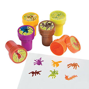 Bug Insect Stampers Party Favour Bugs Ink Stamp Activity Fun Favours Pack of 6