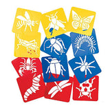 BUG PARTY Plastic Stencil Bugs Bees Spider Beetle Favour Pack of 12 Free Postage