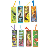 BUG INSECT PARTY Bugs Insects Bookmark Laminated Bookmarks Pk of 8 Free Postage