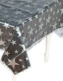 MOVIE NIGHT Clear Silver Star Table Cloth Stars Cover Tablecloth Free Postage