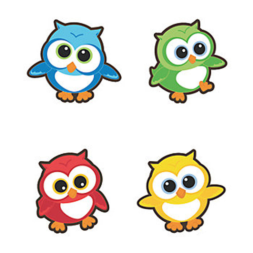 YOURE A HOOT OWL PARTY Owl Bulletin Board Cut-Outs 10cm Pack of 8 Free Postage