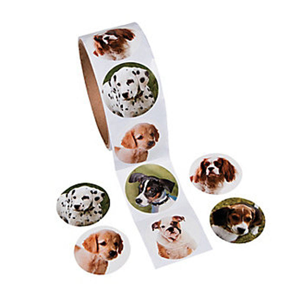 DOG and PUPPY PARTY Photo Realistic Pet Stickers Favours Pack of 50 Free Postage