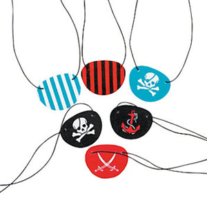 PIRATE PARTY Felt Eye Patch Pirates Coloured Fun Patches Pack of 6 Free Postage