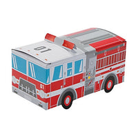 FIREMAN PARTY Fire Truck Treat Boxes Firefghter Favour Box Pk of 6 Free Postage