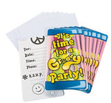 60s HIPPIE PARTY Groovy Invitations with Envelopes Invite Pack of 8 Free Postage
