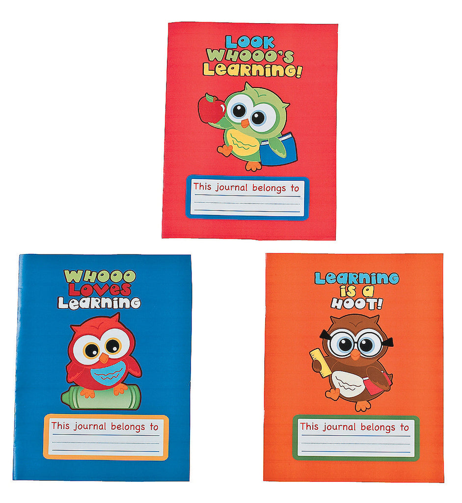 YOURE A HOOT OWL PARTY Draw and Write Journal Favour Pack of 3