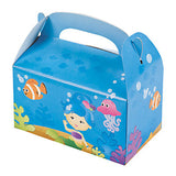 MERMAID PARTY Under the Sea Med Size Treat Favour Box Boxes Pack 6 Free Postage