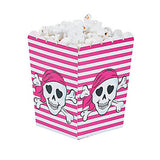 PINK PIRATE PARTY Mini Popcorn Pirates Favour Boxes Gift Box Pack of 6 Free Post
