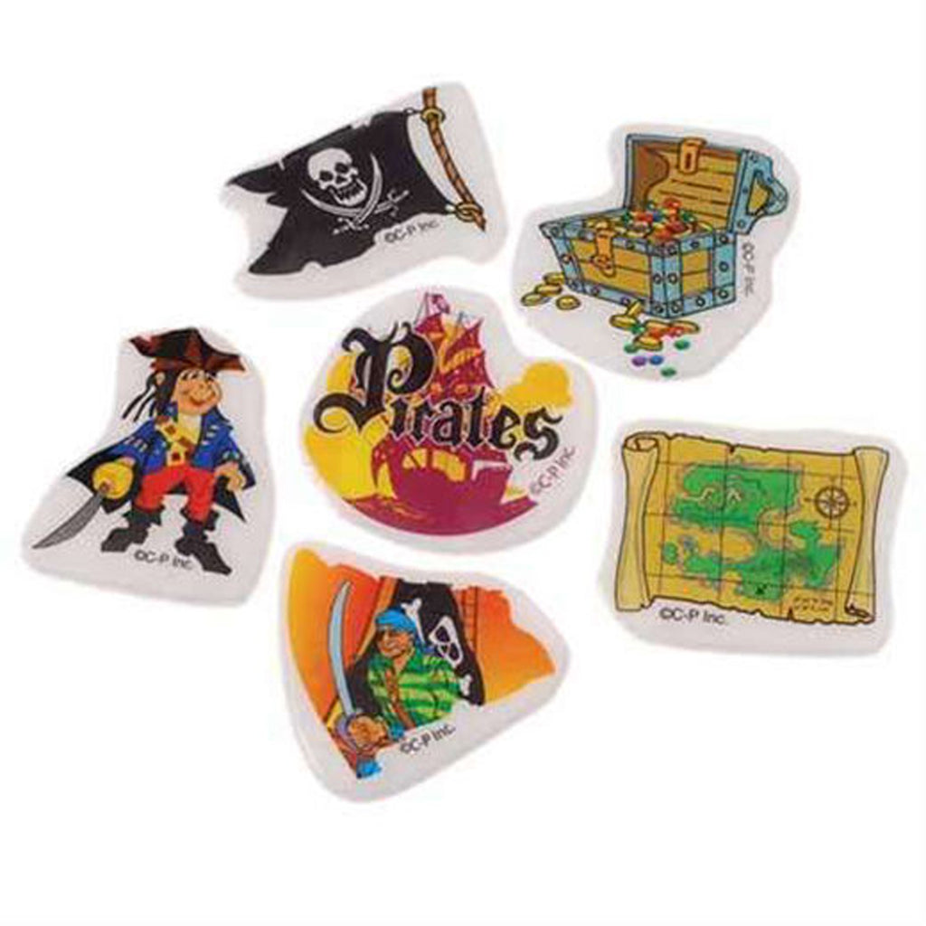 PIRATE PARTY Pirates Puffy Vinyl Stickers Chest Maps Favour Pack of 12 Free Post