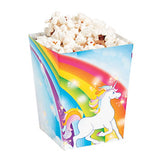 UNICORN PARTY Mini Popcorn Treat Boxes Gift Party Box Pack of 6 Free Postage
