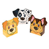 DOG FRIENDS PARTY Terrier Puppy Favour Treat Boxes 3 Types Pack of 6 Free Post