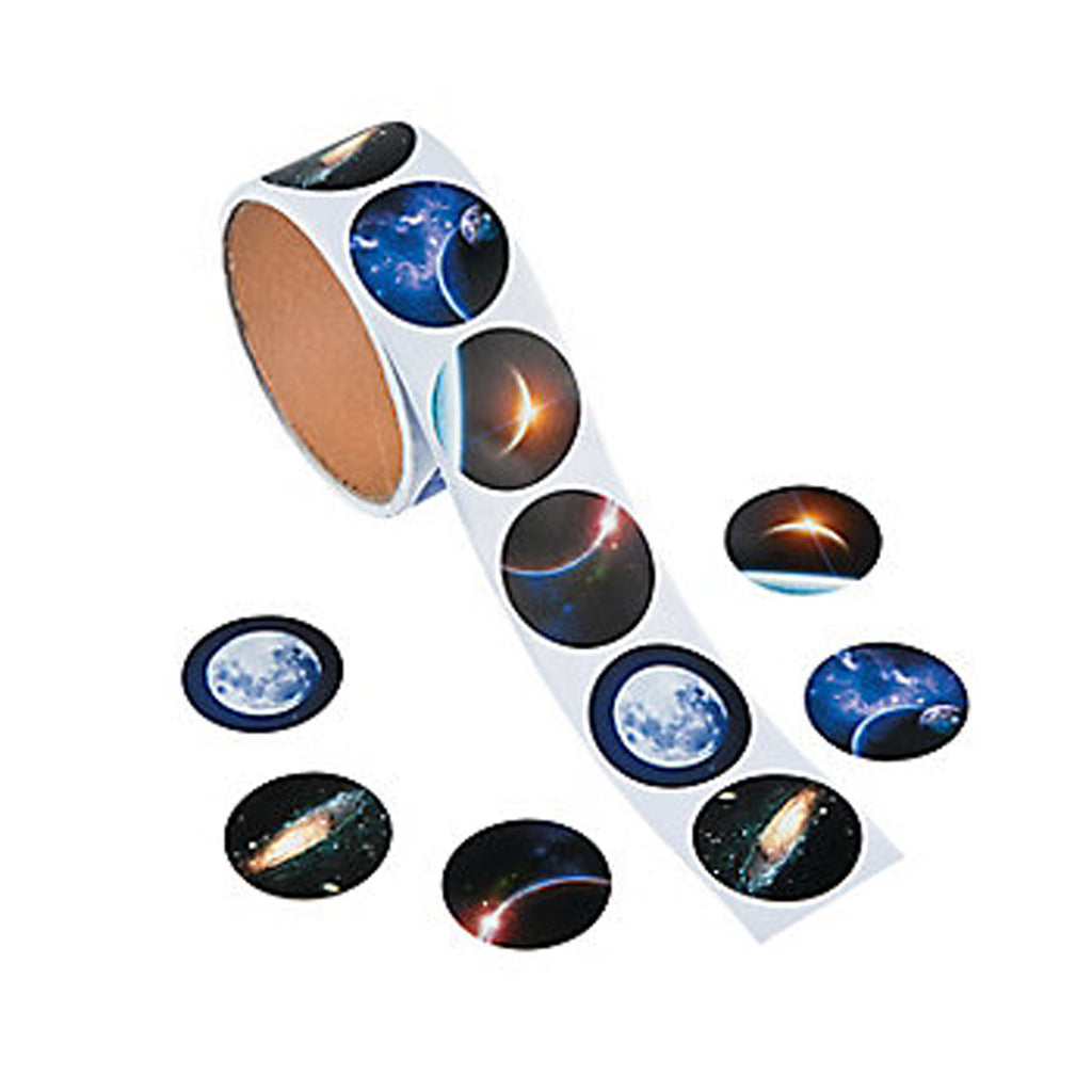 OUTER SPACE Realistic Photo Solar System and Planets Stickers Pk of 50 Free Post