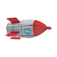 OUTER SPACE PARTY Small Rocket Favour Boxes Gift Box 18cm Pack of 6 Free Postage