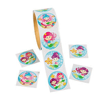 MERMAID PARTY Mermaids Stickers - Under the Sea Sticker Pack of 50 Free Postage