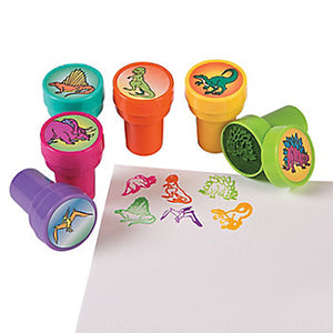 Dinosaur Stampers Favour Ink Stamp Activity Fun Party T Rex Favours Pack of 6