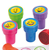 EMOJI PARTY Stampers Smiley Face Ink Stamper Great Gift Favours Stamp Pack of 6