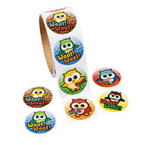 YOURE A HOOT Owl Stickers Party Favours Pack of 50 Free Postage
