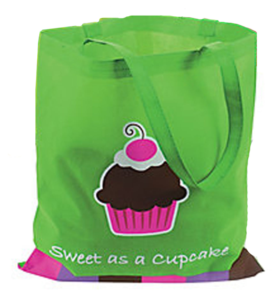 CUPCAKE PARTY Large Tote Bag Gift Shopping Bags 41cm x 37cm Set of 4 Free Post