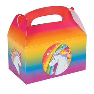 Rainbow Unicorn Party Treat Boxes - Party by Post