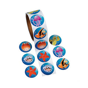 UNDER THE SEA PARTY Stickers Tropical Sea Life Favours Sticker Pack 50 Free Post