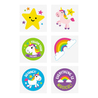 UNICORN PARTY Rainbow Unicorns Tattoos Temporary Tattoo Pack of 36 Free Post