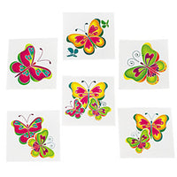 BUTTERFLY PARTY Butterflies Tattoos Temporary Tattoo Pack of 36 Free Postage