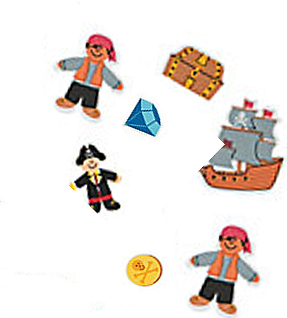 PIRATE PARTY Foam Self-Adhesive Pirates Shapes Pack of 25 Free Postage